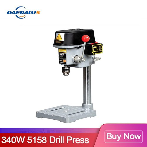 340W Drilling 5158 Series Drill Press Bench Table Drill Stand Table Clamp Mini Drilling Machine Variable For CNC Power Tools