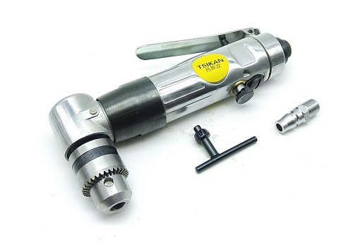 New 1pcs High Quality Low speed 3/8  L Right Angle Pneumatic / Air Drill Tool 1800RPM