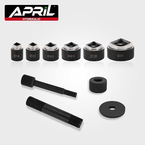 6pcs Hydraulic Punch Hole cutter mould/Hole making Hole cutter mould/round hole knockout punch tool set SYK-8A
