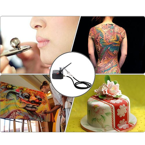 Art Painting Tattoo Manicure Craft Cake Spray Model Air Brush Nail Tool Set Dual Action Airbrush Spray Gun Air Compressor Kit