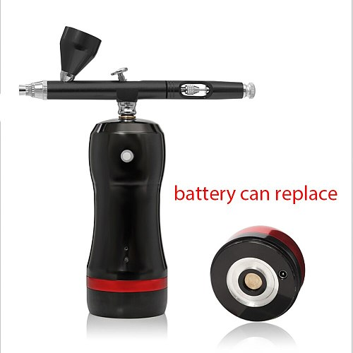 Best Portable Airbrush With Compressor Kit Mini High Pressure Replace Battery Makeup Nail Art Design Tattoo Paint Spary Gun