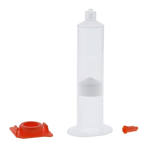 30cc/30ml Adhesive Syringe Barrel Sleeve, Piston, End Caps, Top Hats Pack of 20