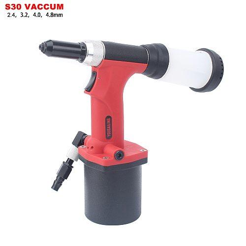 YOUSAILING High Quality Pneumatic Blind Riveter Air Rivet Guns Industrial Level Vacuum 2.4-4.8mm Red Color