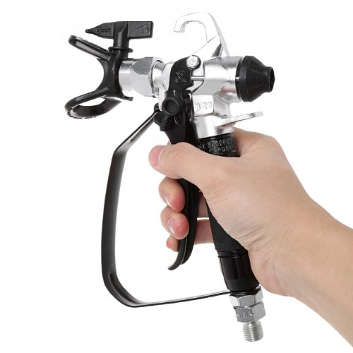 3600PSI Airless Paint Spray Gun For Wagner Sprayers With 517 Tip Nozzle Tools