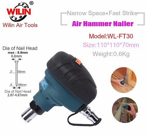 Pneumatic Air Tools Palm Of Hand Knock Beat Strike Hammer Scaler F30 T50 Staplers Nailer