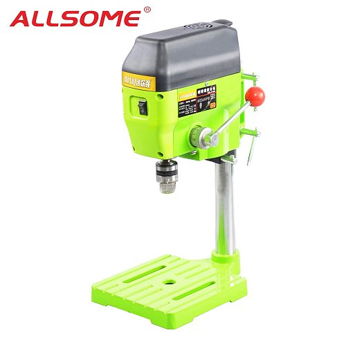 ALLSOME High Variable Speed Bench Drill Press 480W Drilling Machine Drilling Chuck 1-10mm For DIY Wood Metal Electric Tools