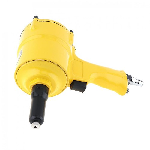 TR-8350 Pneumatic Air Riveter Gun Hydraulic Pop Rivet Pliers Tools with 4 Guide Nozzles and Small Hex Wrench for Punching Nails