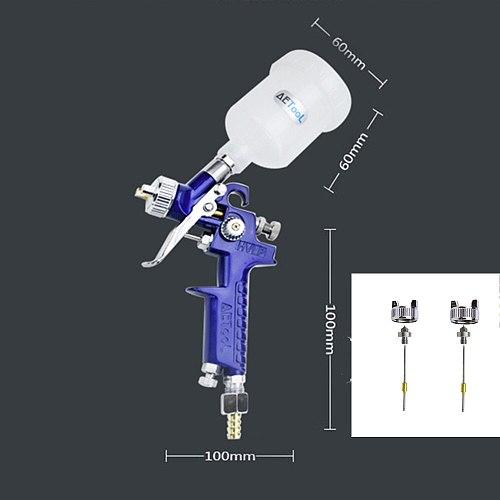 AETool 0.8MM/1.0MM Nozzle Replace Kit+Professional HVLP Spray Gun Mini Air Paint Spray Guns Airbrush For Painting Car Aerograph