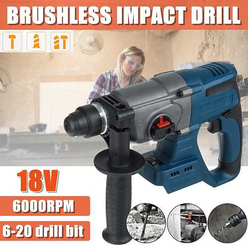 3 IN 1 Brushless Rotary Hammer Electric Drill Hammer 20V 3 Function Hammering Machine Drilling Concrete Tool for Makita Battery