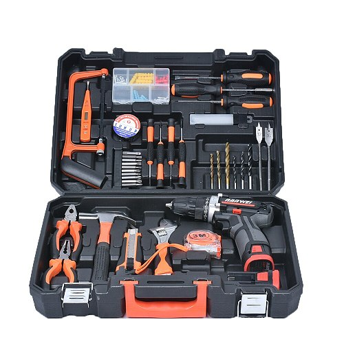 Home improvement repair lithium drill set used for disassemble assembly screws