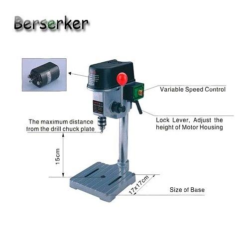 Berserker Precision Mini Bench Drill Power Easy drilling Machine 220V 150W 6.5mm Chuck BG-5158 Free Shipping