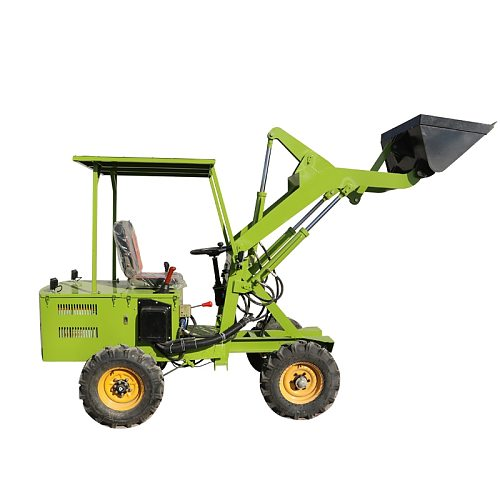 60V Agricultural breeding household battery tractor modified small forklift hydraulic lifting electric four-wheel loader
