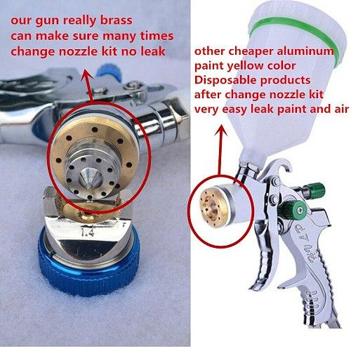 601 Spray Gun  HVLP SPRAY GUN gravity feed stainless steel  nozzle 1.4mm 1.7mm 2.0mm auto Car face Paint Spray Gun