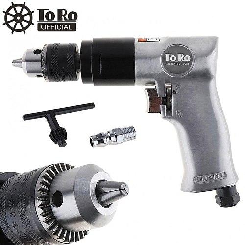 TORO TR-5100 3/8  1800rpm High-speed Cordless Pistol Type Pneumatic Gun Drill Reversible Super Duty Air Drill for Hole Drilling