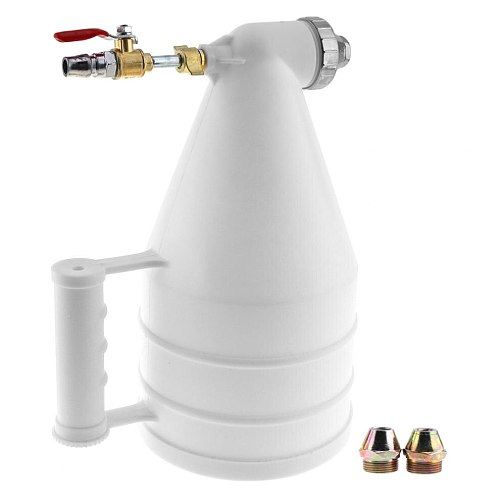 1pc Adjustable Wall Plastic Pneumatic Spray Gun with 4 / 6 / 8mm Diameter Nozzle for Sand Painting Stone Spraying