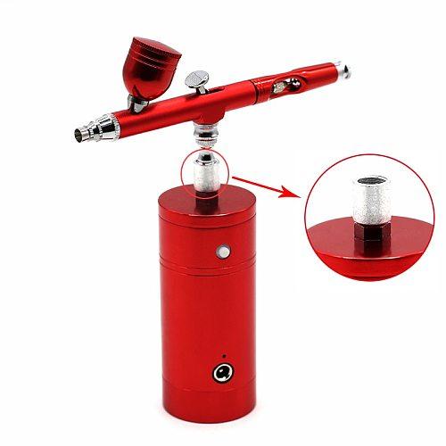 Dual Action Mini Air Compressor Spray Gun Airbrush Air Brush With Sprayer Pen For Paint  Art car model Tattoo Nail Makeup Tools