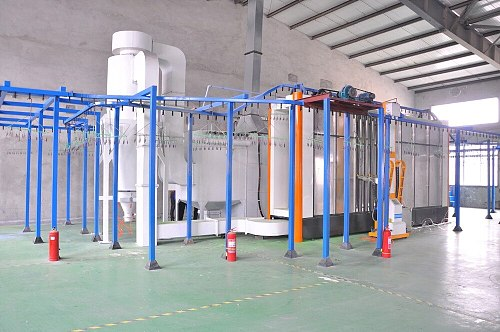 Electrostatic powder coating line coating production line