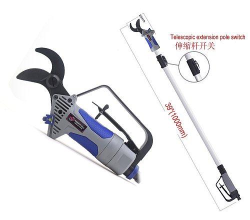 Pneumatic Pruning Shears Scissors Air Secateur Long Reach Pruners Garden Trim Tree Branches Grass Cutter 1000mm Extension Handle