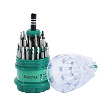ELECALL 31 in 1 Mini Screwdriver Set Small Multitool Kit Torx Screw Driver Kit Repairing Tools For Iphone Laptop Tablet Watch
