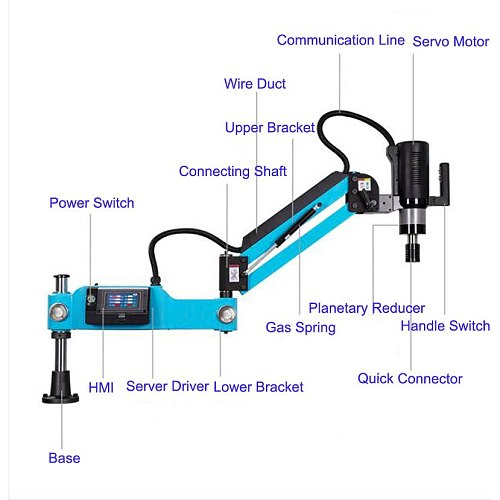 CE 220V CNC M3-M16 Universal Type Electric Tapping Machine Electric Tapper Tapping Tool Power Drilling Taps Threading Machine