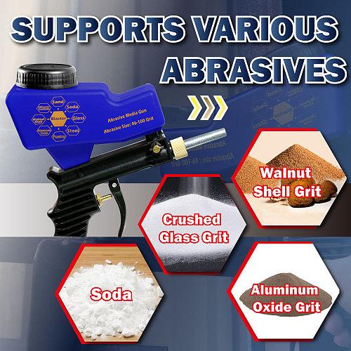 LEMATEC Gravity Feed Sandblasting Gun Air Sandblaster Sand spray gun for rust remove Sandblaster air tools abrasive machine