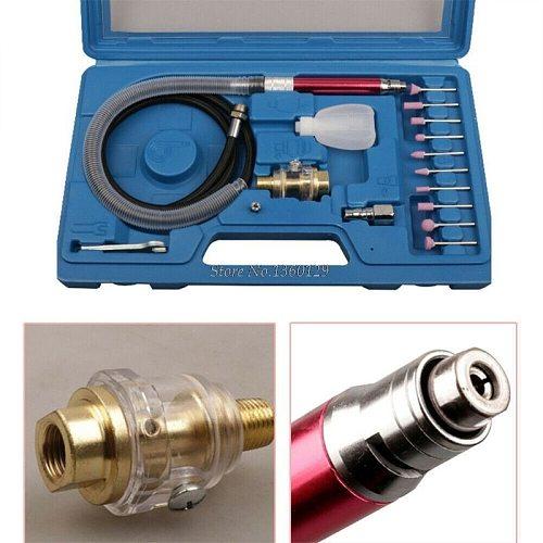 16pcs High Speed Air Micro Die Grinder Kits Mini Pencil Polishing Engraving Tool Professional Grinding Cutting Pneumatic Tools