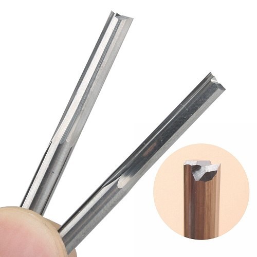 10Pcs 4x22mm Two Flutes Straight Slot End Mill CNC Two Dimension Cutting Tools Router Bit