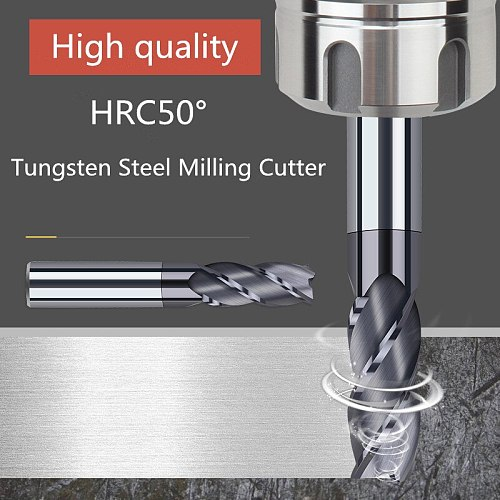 Mill Milling Tools Milling Cutter HRC50 4 Flute Metal Cutte Alloy Carbide End Mil Tungsten Steel Milling Cutter 1mm 2mm 3mm