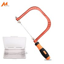 5  Design Patented Fret Saw Woodworking Hand Coping Saw with Extra 20pcs 130mm Blades DIY Shape Cutting Tool