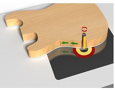 1Pc 1/2  Shank Pattern/Flush Trim Router Bit, 2-1/2  Cutter, Top & Bottom Bearing For Woodworking Cutting Tool