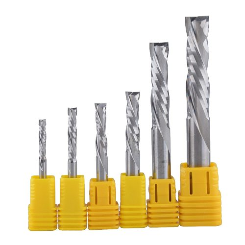 1Pcs UP & DOWN Cut Two Flutes Spiral Carbide Mill Tool Cutters for CNC Router, Compression Wood End Mill Cutter Bits