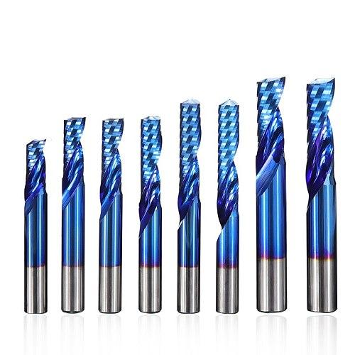 Carbide End Mill 4 6 8mm Shank Single Flute Milling Cutter for Cutting Aluminum Copper CNC Router Bit