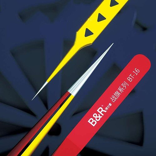 The Newest B&R high-precision tweezers with suture steps are suitable for disassembly and repair of precision parts