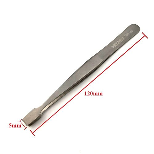 34A-SA Flat Wide Tweezers for Laboratory Medical Clamping Stamp Electronic Industry Tools