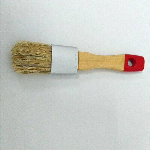 Chalked Brush  for Artist Waxing Milk Paint Brush  Premium Thick Natural Boar Bristles Hair Furniture Paint Brushes Sanding Pad