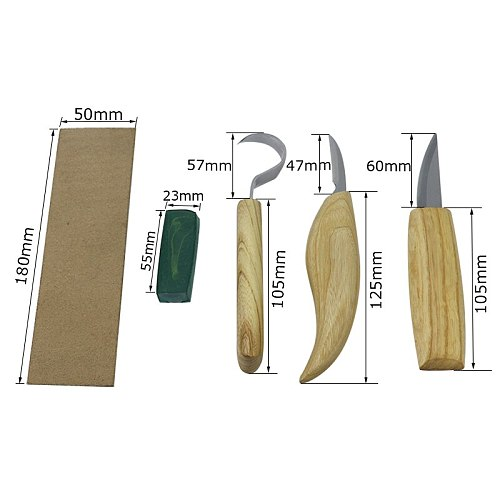 Wood Carving Knife Carving Chisel Stainless Steel Sharp-edged Wood Cutter Gouge Chisels DIY Woodworking Carving Tools Set