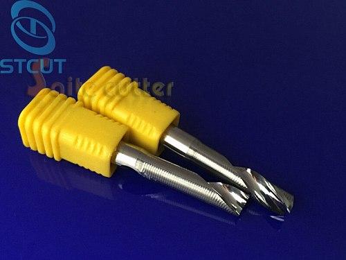 1PC Single Flute Milling cutters for Aluminum CNC Tools Solid Carbide CNC flat End mills Router bits,aluminum composite panels