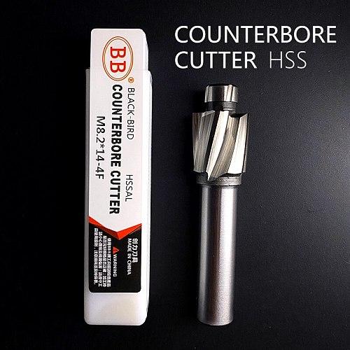 BB Counterbore End Milling Tool HSS M3-M16 for Flat Bolt Holes Screw Caps Ejector Cap Countersink