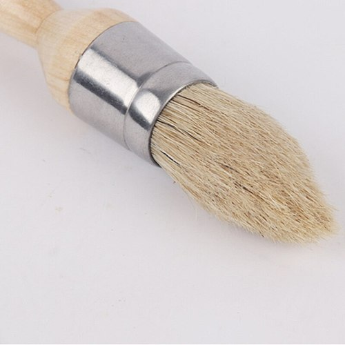 3pc Chalked Paint Natural Pure Boar Bristle brush Waxing Combination Round Detail Brushes Use with All kinds of chalked Paint