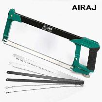 AIRAJ 520mm Adjustable Hacksaw Frame with Six Saw Blade Household Large Multifunctional Gardening Wood Food Cutting Hand Tool