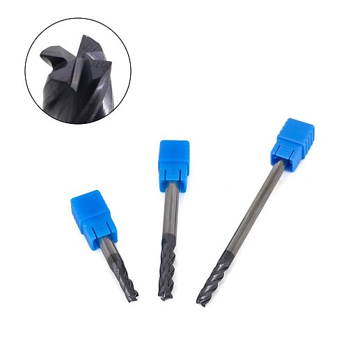 Cnc Alloy Carbide Milling Cutter End Mill 4mm 5mm 6mm 8mm 10mm 12mm Freze ucu Cutting HRC50 4 Flute Metal Cutter Milling Tools