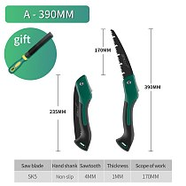 Folding Cutting Hand Folding Mini Saw with TPR Handle Collapsible Saw for Wood