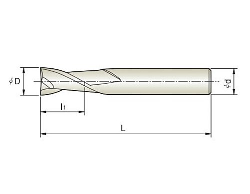 1pc 3mm~16mm HRC50 2 Flutes Milling cutters for Aluminum  CNC Tools Solid Carbide CNC flat End mills Router bits