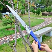 Portable Home Manual Pruning Hacksaws Garden Folding Trimming Saw Pruning Garden Household Anti-skip Hand Steel Sawing Tool 27cm