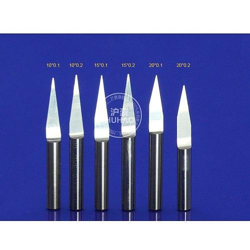 10Pcs 3.175mm Tungsten Bit V Shape Carbide PCB Engraving Bits CNC Router Tool Choose size J3.3001 acrylic carving frezer