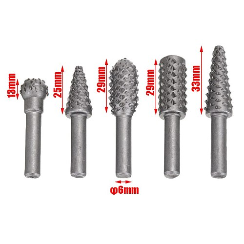 New 5pcs HSS Steel Step Cone Drill Titanium Rotary Drill Bit Set Hole Cutter Milling Cutter For Materials Cutting Power Tools