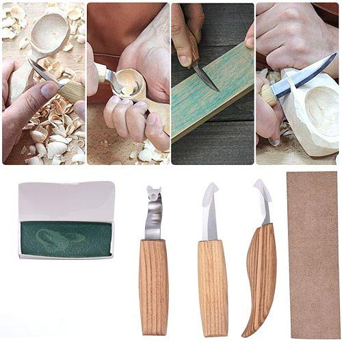 5 Pcs Set Woodworking Carving Tools Knife Sharp-edged Wood Gouge Chisels DIY Cutter