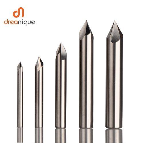 CNC tungsten carbide Countersink Drill Bit Chamfer milling cutter for aluminium Copper,60 90 120 degree deburring end mill