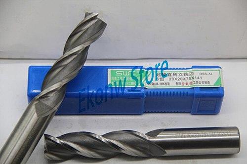 Three 3 Flute HSS End Mill Cutter CNC Bit Milling Cutter Extra Long 3 4 5 6 7 8 9 10 11 12 13 14 15 16 17 18 19 20 22 25