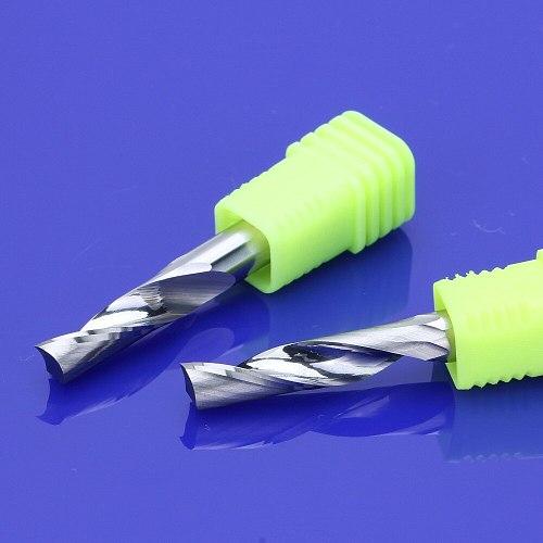 10Pcs 4mm Single Flute Milling cutters for Aluminum CNC Tools Solid Carbide,aluminum composite panels
